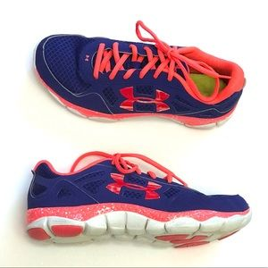 Under Armour Hot Pink + Purple Marble Tennis Shoes